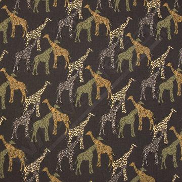 Giraffen op zwart