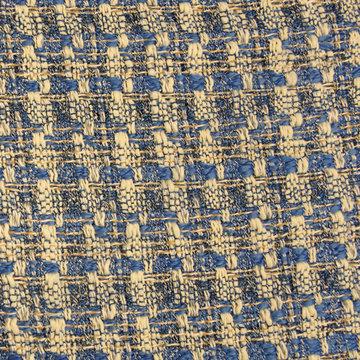 Jacquard chanel ecru-blauw