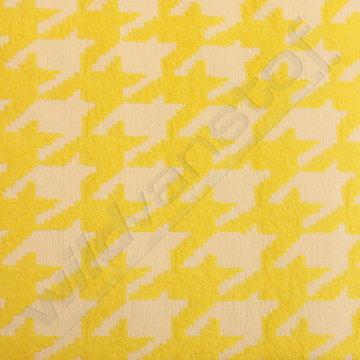 Jacquard grote pied de poule geel