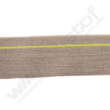 Elastiek grijs met fluogele streep