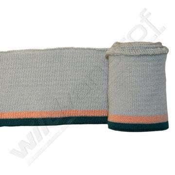 Boord strepen - Grijs, roze, groen (1,20m)