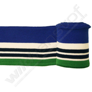 Boord strepen - Groen, wit, blauw (1,20m)