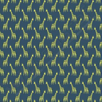 Giraffen op blauw