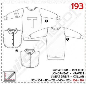 Abacadabra - Sweatjurk en kraagje 193