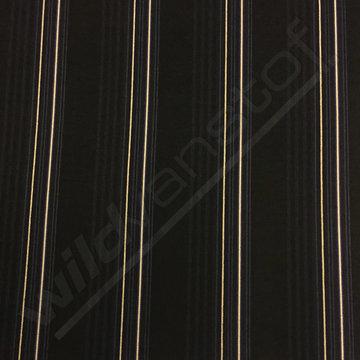 Punta zwart met fijne streep beige-blauw