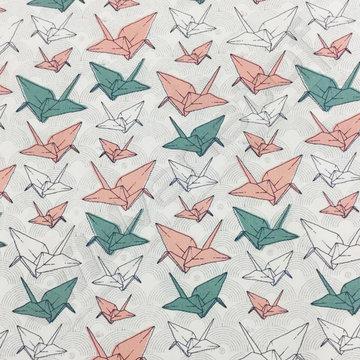 Gekleurde origami op wit