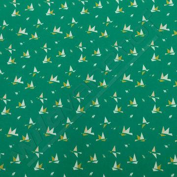 Origamivogels op groen