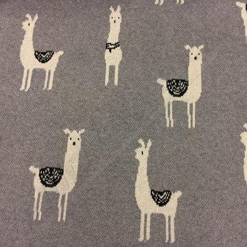 Jaquard jersey lama's