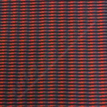Jacquard jersey blauw-rood