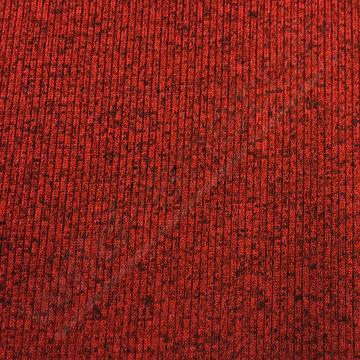 Gebreid - Rood met zwarte spikkel strepen