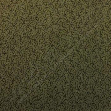 Blaadjes in waaier groen