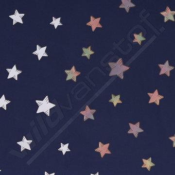 Softshell - sterren op blauw (verkleurd)