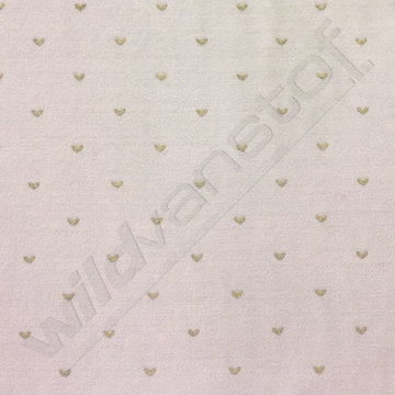 Nicky velours - Gouden hartjes op grijs