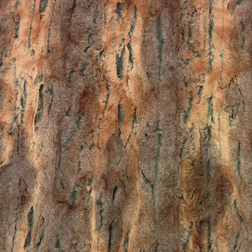 Pels - boomschorsmotief bruin