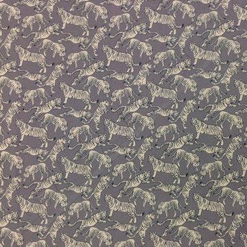 Tijgers op grijsblauw
