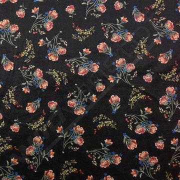 Velvet bloemetjes op zwart