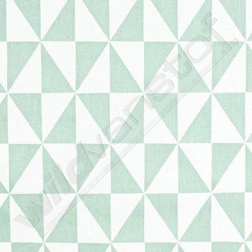 Canvas - Driehoeken munt-wit