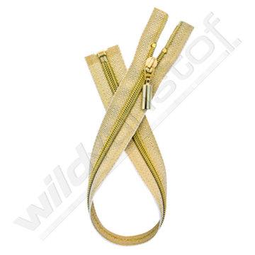 Rits deelbaar goud 40-50-60 cm