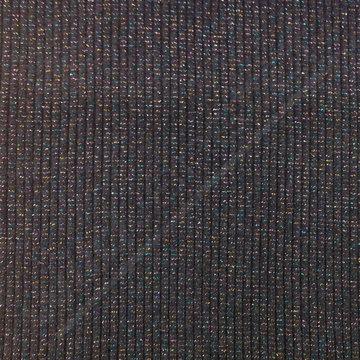 Boordstof - Rib glitter donkerblauw