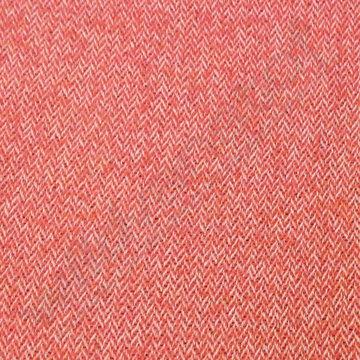 Mantelstof - Visgraat roze
