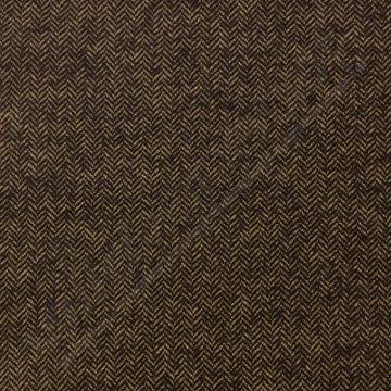 Mantelstof - Visgraat bruin