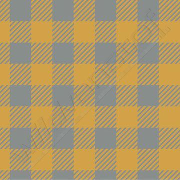 Tricot - Elvelyckan plaid oker-grijs