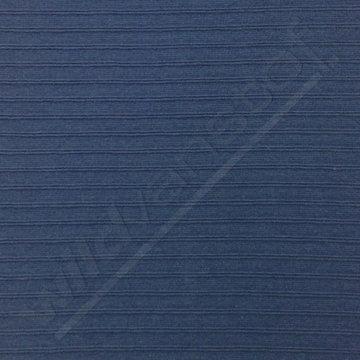 Boordstof - Blauw met reliefstreep