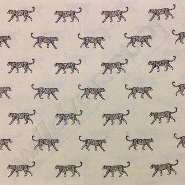 Katoen - Luipaard op ecru