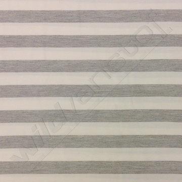 Viscose - Strepen wit-grijs