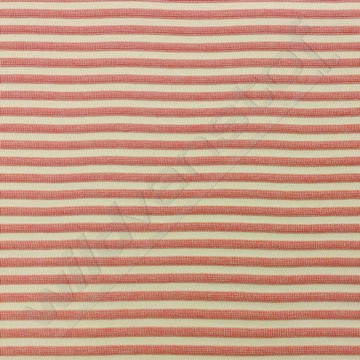 Jacquard - Relief strepen roze-rood