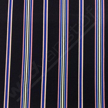 Punta - Strepen zwart-roze-blauw-wit