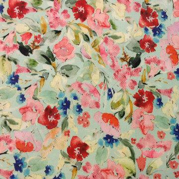 Viscose - Kleurrijke bloemenprint