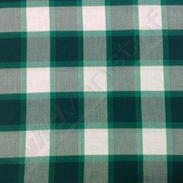 Katoen - Vierkanten groen-wit