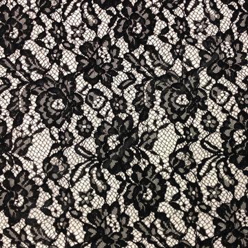 Kant - Bloemen zwart