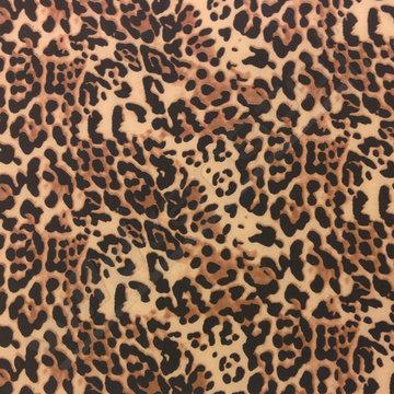 Lycra - Travelers jersey luipaardprint bruin