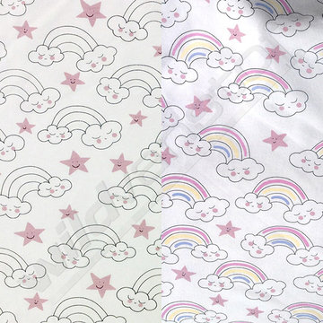 Tricot - Wolken en regenboog (UV-licht print)