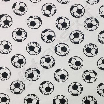 Tricot - Voetballen zwart-wit