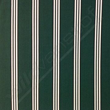 Viscose - Strepen groen-wit-zwart