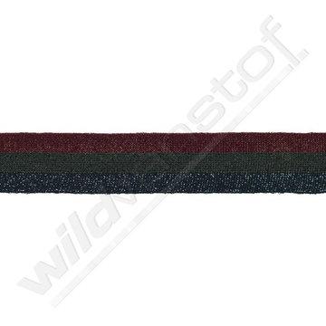 Broekstreep 30mm - Bordeaux-grijs-donkerblauw