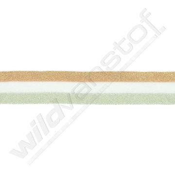 Broekstreep 30mm - Oudroze-wit-munt