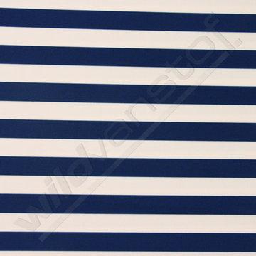 Lycra - Strepen blauw-wit