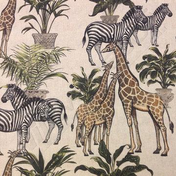 Canvas - Zebra & Giraf