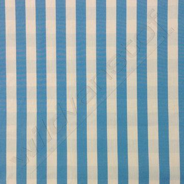 Stretchkatoen - Strepen/carreaux blauw-wit