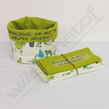 Stoffenpakket - Grote plant