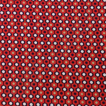 Viscose - Bollenlijn op rood