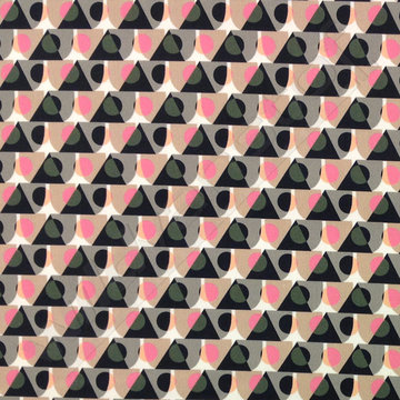 Stretchkatoen - Fantasie bollen en driehoek