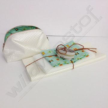 Stoffenpakket - Geo bag groot (wit)