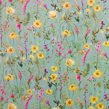 Viscose - Bloemen op munt