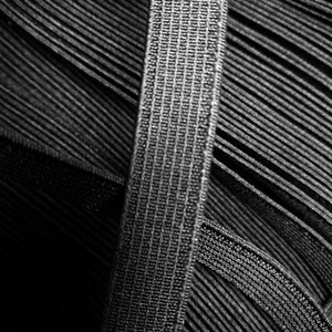 Elastiek 10mm - zwart (1000m)