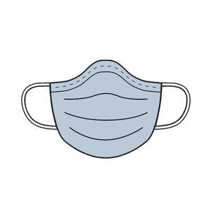 Stoffenpakket - Mondmasker effen + rekker (10stuks)